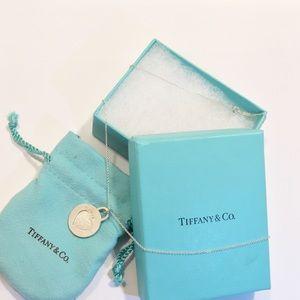 """Tiffany & Co 925 Silver Clinique Heart Pendant 18"""""""